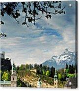 Morning View Of Salzburg From Kapuzinerberg Acrylic Print