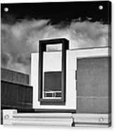 Morrison Window Bw Palm Springs Acrylic Print