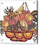 Mosaic Fruits Acrylic Print