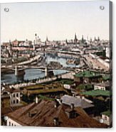 Moscow Russia On The Moskva River - Ca 1900 Acrylic Print