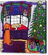 Moses And Barkley On Christmas Eve Acrylic Print