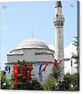 Mosque And Flags Acrylic Print