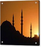 Mosque Hagia Sofia At Sunset, Istanbul, Turkey Acrylic Print
