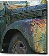 Moss Covered Truck Acrylic Print