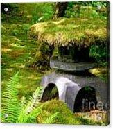 Mossy Japanese Garden Lantern Acrylic Print