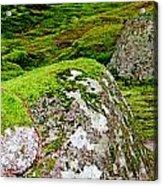 Mossy Rock Garden Acrylic Print