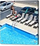 Motel Pool And Surroundings Acrylic Print
