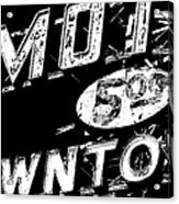 Motel Sign Black And White Acrylic Print
