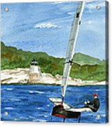 Moth Sailing At Castle Hill Light Acrylic Print