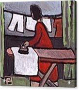 Mother  Ironing Acrylic Print