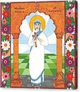 Mother Teresa Of Calcutta Icon Acrylic Print