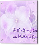 Mother's Day Greeting Card - African Violets Acrylic Print