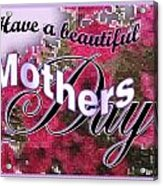 Mothers Day Pink Petunias Acrylic Print