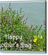 Mother's Day - Wildflowers By The Pond Acrylic Print