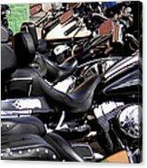 Motorcycles - Harleys And Hondas Acrylic Print