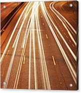 Motorway Light Trails Acrylic Print by Richard Newstead