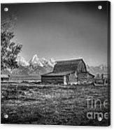 Moulton Barn Bw Acrylic Print