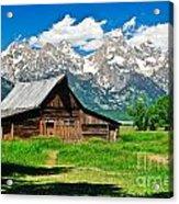 Moulton Barn Le Acrylic Print