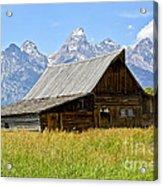 Moulton Barn On Mormon Row Acrylic Print