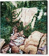 Mounrain Creek Falls Acrylic Print by Vikki Wicks