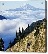 Mount Adams Above Cloud-filled Valley Acrylic Print