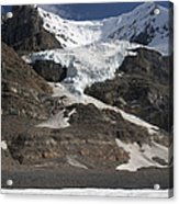 Mount Andromeda And Athabasca Glacier Acrylic Print