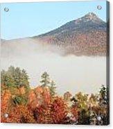 Mount Chocorua Autumn Fog Acrylic Print