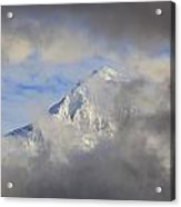 Mount Hood Through Storm Clouds Oregon Acrylic Print