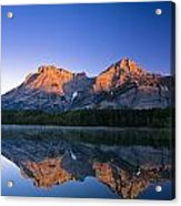 Mount Kidd Reflected In Wedge Pond Acrylic Print