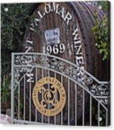 Mount Palomar Winery Acrylic Print