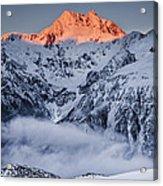 Mount Rolleston In The Dawn Light Acrylic Print
