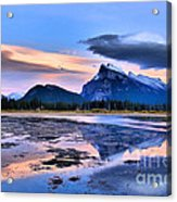 Mount Rundle In The Evening Acrylic Print