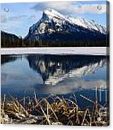Mount Rundle In Winter Acrylic Print