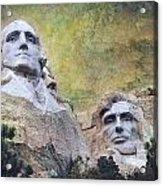 Mount Rushmore - My Impression Acrylic Print by Jeff Burgess
