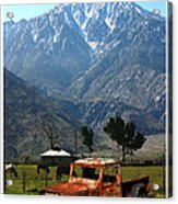 1941 Willys Week End Project Under Mount San Jacinto  Acrylic Print