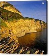 Mount St Alban Cliffs At Sunset Acrylic Print