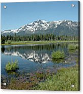 Mount Tallac Sky Projections Acrylic Print