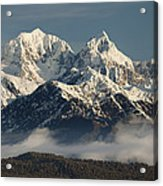Mount Tasman And Mount Cook Southern Acrylic Print by Colin Monteath