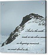 Mount Washington Climb Acrylic Print
