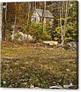 Mountain Cabin Acrylic Print by John Greim