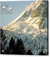 Mountain Christmas 2 Austria Europe Acrylic Print