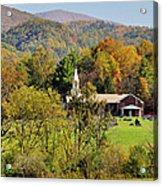 Mountain Church Acrylic Print