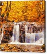Mountain Creek Falls Acrylic Print