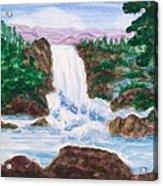 Mountain Falls Acrylic Print by Jeanette Stewart