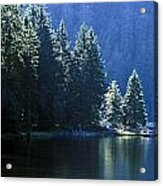 Mountain Lake In Arbersee, Germany Acrylic Print