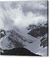 Mountain Panoramic In Winter, Spray Acrylic Print