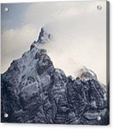 Mountain Peak In The Salvesen Range Acrylic Print