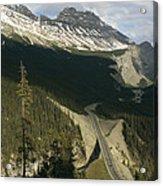 Mountain Peaks Along The Icefields Acrylic Print
