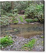 Mountain Road And Footbridge Acrylic Print