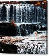 Mountain Stream Waterfall Acrylic Print